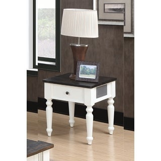 Link to The Gray Barn White and Brown Rustic Plank Top End Table Similar Items in Living Room Furniture