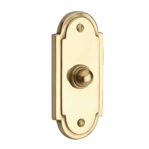 Colonial Brass Push Button Door Bell 4 H Renovator's Supply