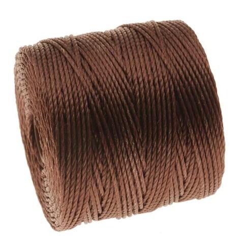 BeadSmith Super-Lon (S-Lon) Cord - Size 18 Twisted Nylon - Brown / 77 Yard Spool