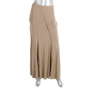 Studio M Womens Maxi Skirt Knit Heathered