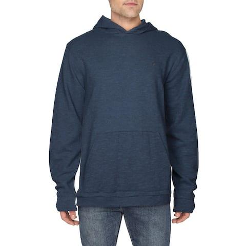 Volcom Mens Wallace Hoodie Thermal Long Sleeve - Blue - XL