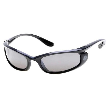 Harley-Davidson Mens Injected Bar & Shield Sunglasses Gray Frames ...