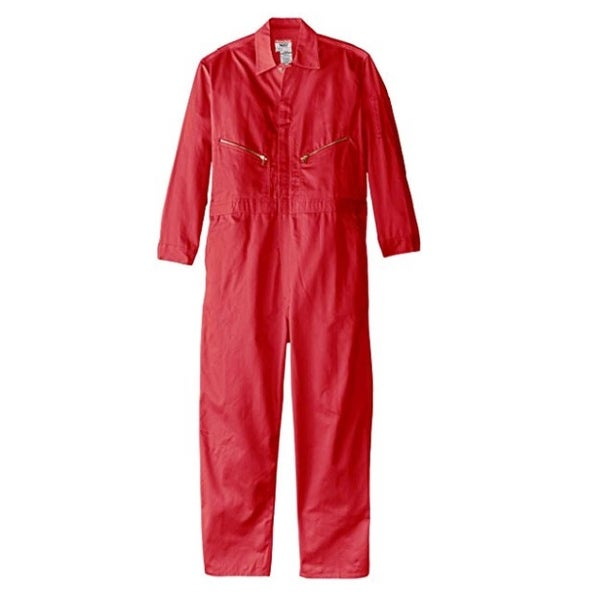Walls Mens Safety Red 62 X-Tall Long Sleeve Twill Coverall