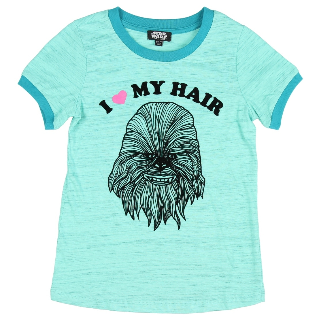 22557a7b8 Shop Star Wars Big Girls' Chewbacca I Love My Hair T-Shirt Wookie Movie  Character Tee - Free Shipping On Orders Over $45 - Overstock - 15798802