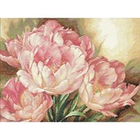 "Gold Collection Tulip Trio Counted Cross Stitch Kit-16""X12"""