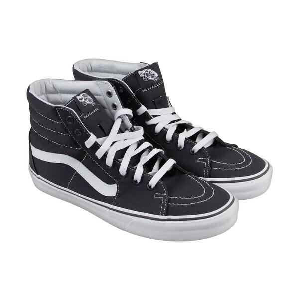 67be1d339fde25 Shop Vans Sk8 Hi Mens Gray Canvas High Top Lace Up Sneakers Shoes ...