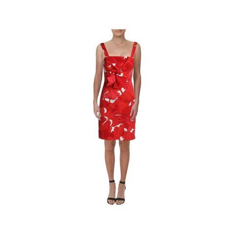 TRINA TURK Red Sleeveless Above The Knee Sheath Dress Size 12