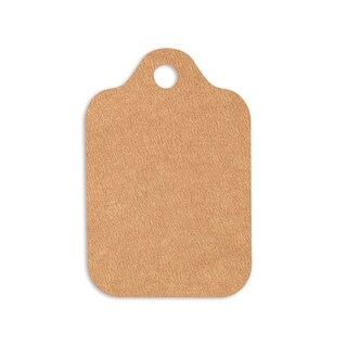 "Kraft Resale Gift Tags 2-1/2"" x 3-3/4"""