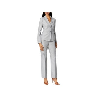 Le Suit Womens Petites Pant Suit Office Wear Striped