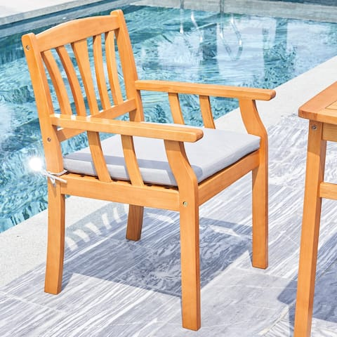Kapalua Honey Nautical Outdoor Eucalyptus Wooden Dining Chair