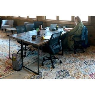 Carbon Loft Kehlmann Black Metal and Wood Desk