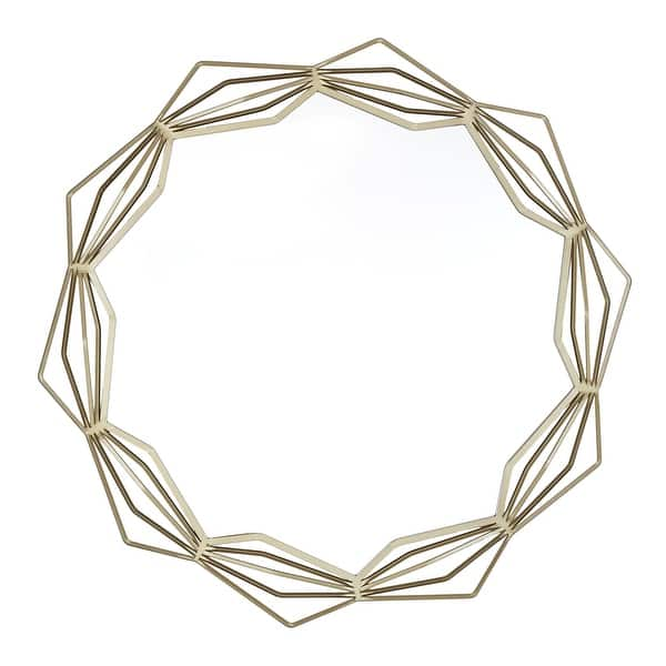 Lodo Wall Mirror With Star Geometric Metal Frame By Inspire Q Modern On Sale Overstock 26565545