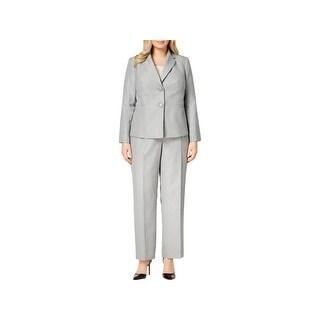 Le Suit Womens Plus Pant Suit Professional Business Attire - 14W