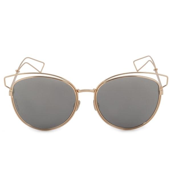 4e7c890a494 Shop Christian Dior Sideral2 Cat Eye Sunglasses 000 UE 56 - Free ...