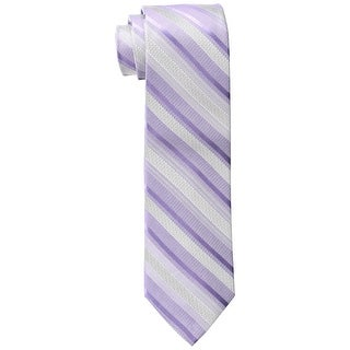 Calvin Klein Lilac Purple Men's One Size Pearlized Stripe Tie