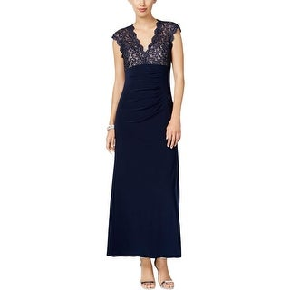 Xscape Womens Petites Formal Dress Glitter Gathered