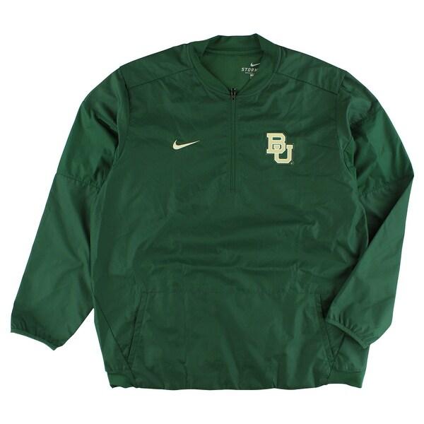 af0e4209424c Shop Nike Mens Baylor Bears Lockdown Quarter Zip Jacket Green - On Sale -  Free Shipping Today - Overstock - 22545346