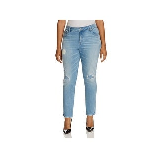 Lucky Brand Womens Plus Ginger Skinny Jeans Destroyed Mid-Rise