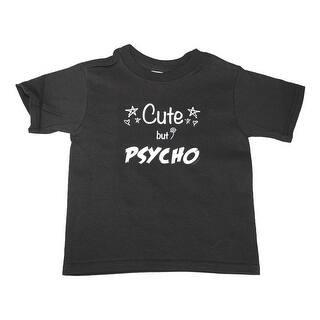 "Unisex Little Kids Black ""Cute But Psycho"" Letter Print Cotton T-Shirt|https://ak1.ostkcdn.com/images/products/is/images/direct/83da43829334b3b7f6e3b8f6ee64a922464a1821/Unisex-Little-Kids-Black-%22Cute-But-Psycho%22-Letter-Print-Cotton-T-Shirt.jpg?impolicy=medium"