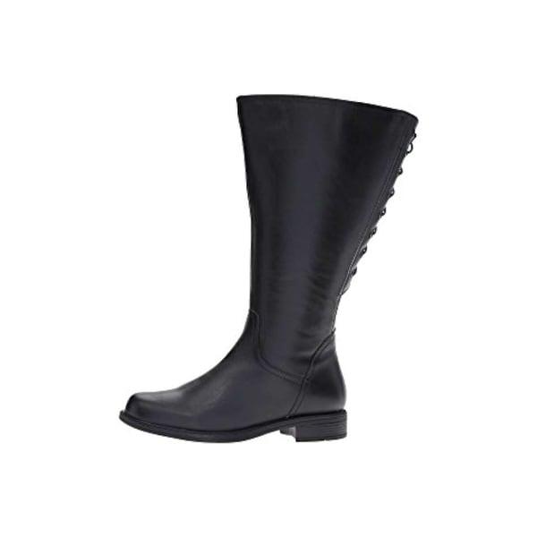 David Tate Womens Zoe 20 Leather Closed Toe Knee High Fashion Boots - 10