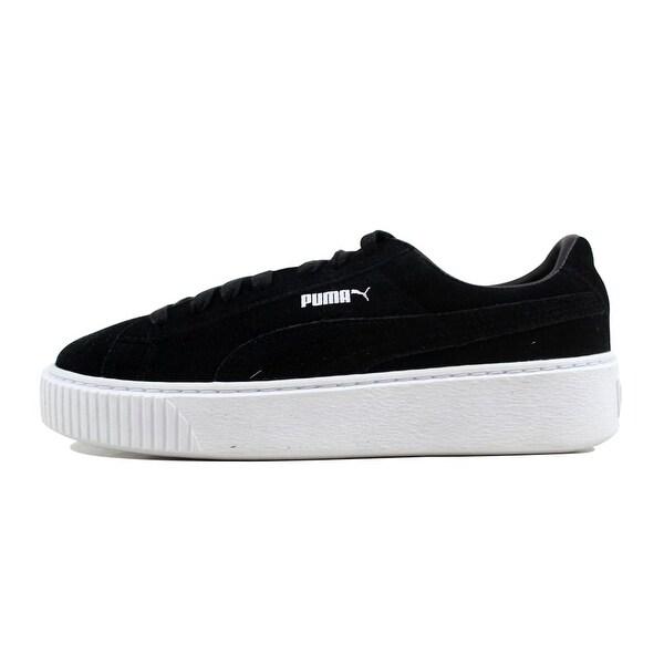 Shop Puma Suede Platform Puma Black/Black-White 362223 01 ...
