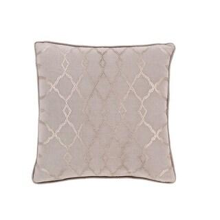 "22"" Diamond Elegance Tan Brown and Mist Gray Decorative Throw Pillow  Down Filler"