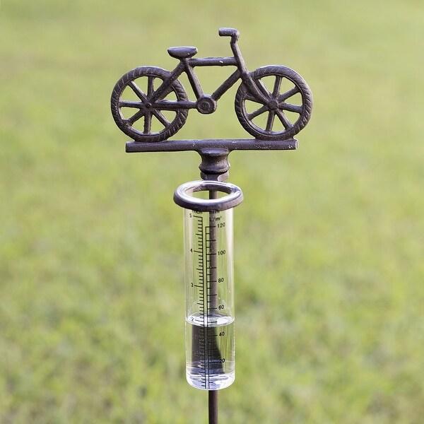 Bicycle Rain Gauge Garden Stake