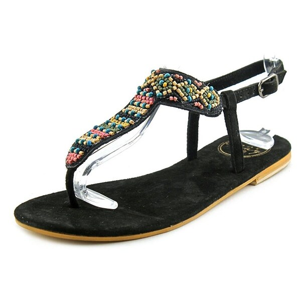Coolway Miami Women  Open Toe Suede Black Thong Sandal