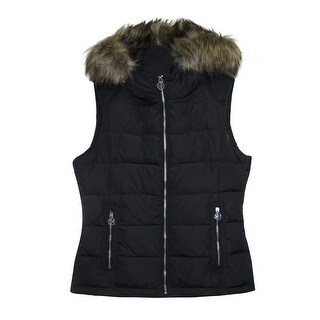 Michael Michael Kors Black Down Quilted Vest
