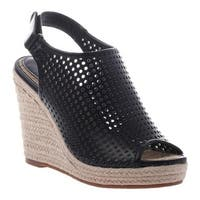 Madeline Women's Minimal Wedge Sandal Black Synthetic