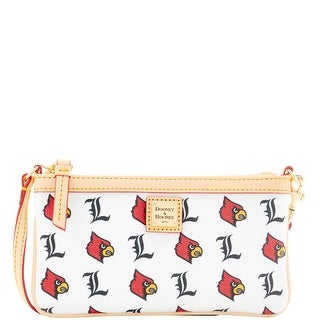 Dooney & Bourke NCAA Louisville Large Slim Wristlet (Introduced by Dooney & Bourke at $88 in Jan 2016) - White