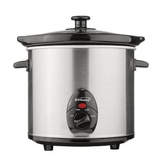 Brentwood Sc-130S Slow Cooker Stainless Steel Body, 3-Quart