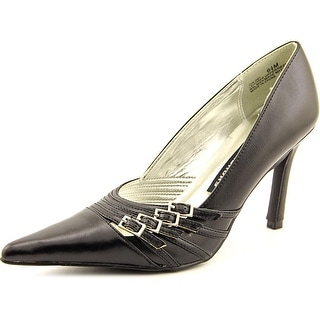 Chinese Laundry Vina Women Pointed Toe Leather Black Heels
