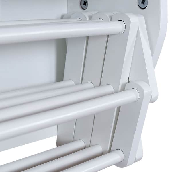 Costway Wall Mounted Drying Rack Folding Clothes Towel Laundry Room Overstock 18502786