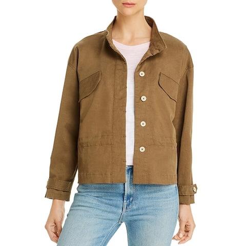 Comune Womens Nori Cropped Jacket Lightweight Utility