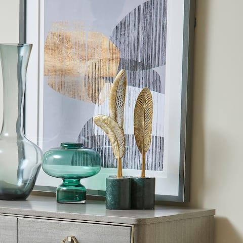 Jennifer Taylor Home Flight Feathers Decorative Object, Set of 2