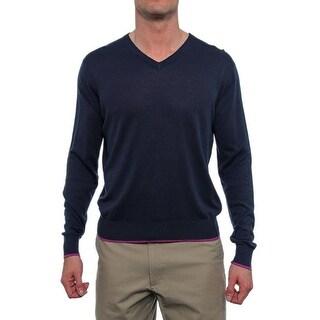C/89Men Long Sleeve V-Neck Sweater Men Regular Sweater Top