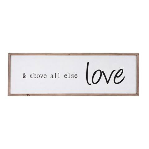 """& above all else love"" Wood Framed Wall Decor"