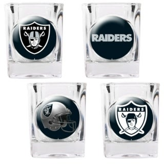 Great American Products Oakland Raiders Shot Glass Set 4pc Collectors Shot Glass Set