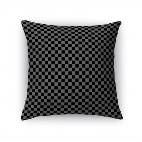 CHECKER BOARD BLACK & GREY Accent Pillow By Kavka Designs
