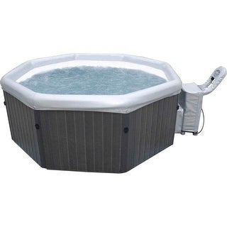 "MSPA Tuscany Metallic Ash hexagon Bubble Spa 76"" W x 76"" L x 29"" H / PM-710S"