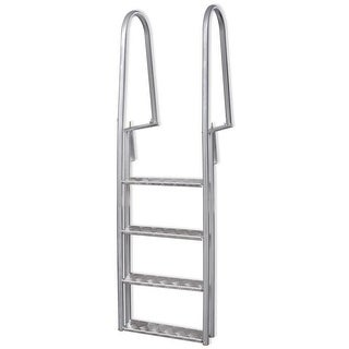 vidaXL 4-Step Dock/Pool Ladder Aluminum 66.9""