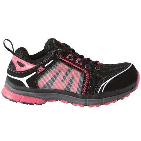 HOSS Boots Robin Athletic Safety Runner Womens Boots - Black,Pink