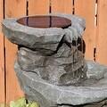Sunnydaze Solar Garden Water Fountain with Planter, 19 Inches Tall - Thumbnail 1