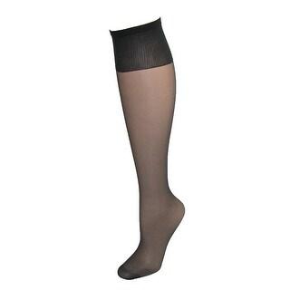 Hanes Women's Plus Size Nylon Sheer Knee High Socks (Pack of 2)