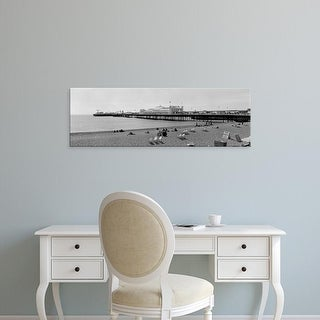 Easy Art Prints Panoramic Images's 'Tourists on the beach, Brighton, England' Premium Canvas Art