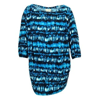 Michael Kors Women's Long Sleeve Print Dress Cover ups - 20W