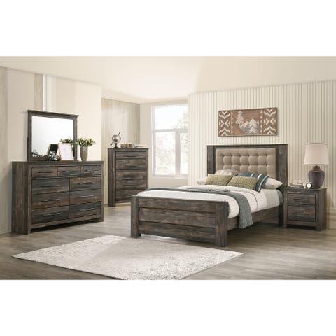 Weston Weathered Dark Brown 4-piece Bedroom Set