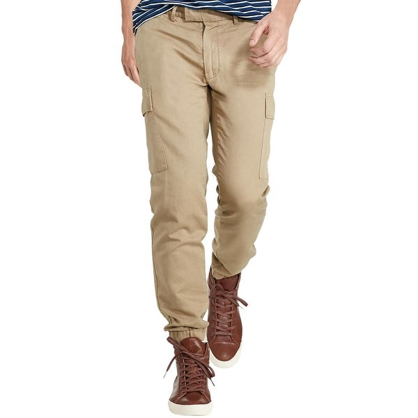 Shop Polo Ralph Lauren Straight Fit Twill Cargo Jogger Pants Sahara ... cd1f0b8613