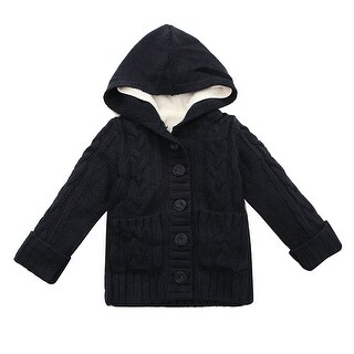 Richie House Girls' Sweater Jacket with Detachable Fleece Lining